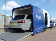 Audi S6 in single car transporter