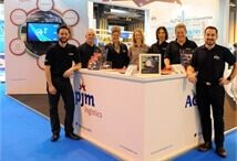 pjm logistics and Acumen team around their stand at Fleet Management LIVE