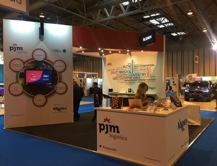 pjm logistics and Acumen stand at Fleet Management LIVE